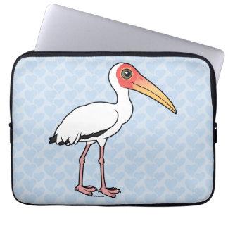 Birdorable Milky Stork Laptop Sleeve