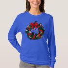 Birdorable NA Backyard Birds Christmas Wreath T-Shirt