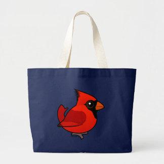 Birdorable Northern Cardinal Large Tote Bag