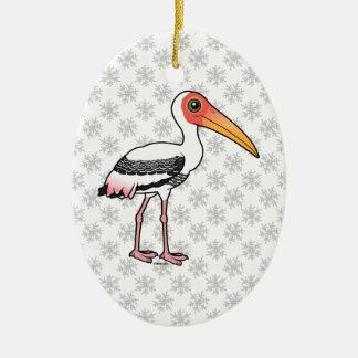 Birdorable Painted Stork Ceramic Ornament