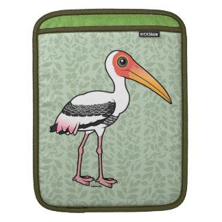 Birdorable Painted Stork iPad Sleeve