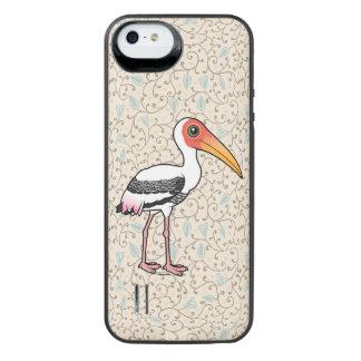 Birdorable Painted Stork iPhone SE/5/5s Battery Case
