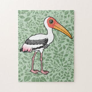 Birdorable Painted Stork Jigsaw Puzzle