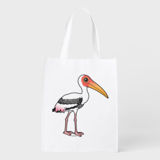Birdorable Painted Stork Reusable Grocery Bag