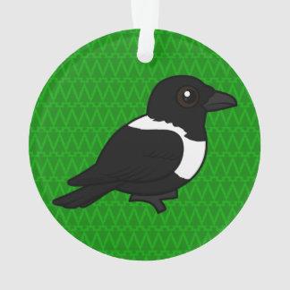 Birdorable Pied Crow Ornament