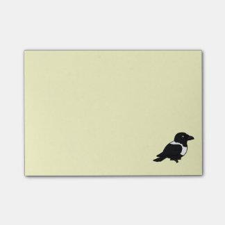 Birdorable Pied Crow Post-it Notes