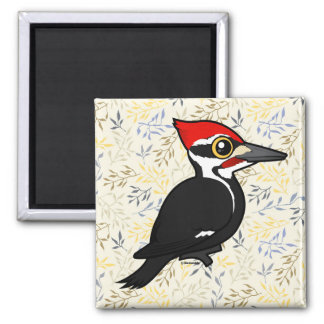 Birdorable Pileated Woodpecker Square Magnet