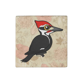 Birdorable Pileated Woodpecker Stone Magnets