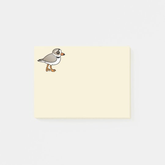 Birdorable Piping Plover Post-it Notes