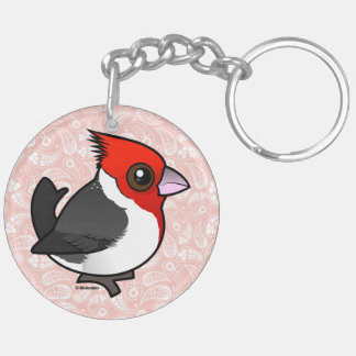 Birdorable Red-crested Cardinal Keychain