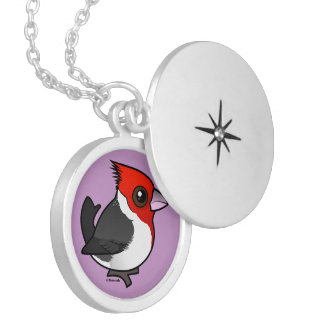 Birdorable Red-crested Cardinal Locket Necklace