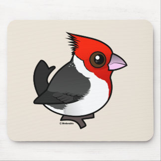 Birdorable Red-crested Cardinal Mouse Pad