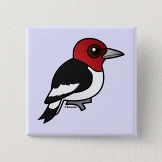 Birdorable Red-headed Woodpecker 2 Inch Square Button