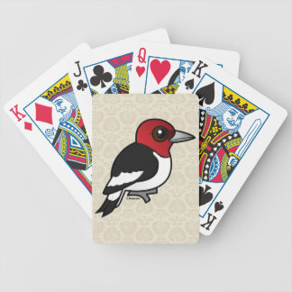 Birdorable Red-headed Woodpecker Bicycle Playing Cards