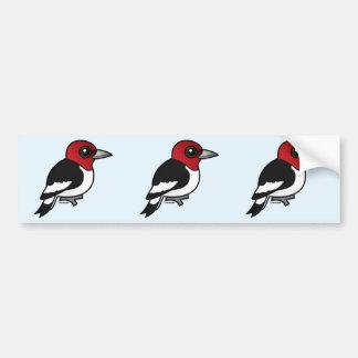 Birdorable Red-headed Woodpecker Bumper Sticker