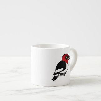 Birdorable Red-headed Woodpecker Espresso Cup