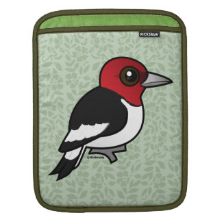 Birdorable Red-headed Woodpecker iPad Sleeve