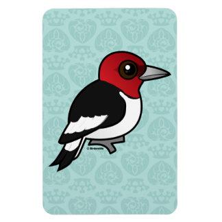 Birdorable Red-headed Woodpecker Rectangular Photo Magnet