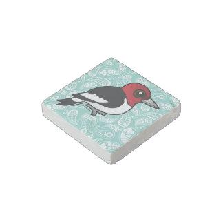 Birdorable Red-headed Woodpecker Stone Magnets