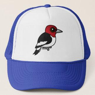 Birdorable Red-headed Woodpecker Trucker Hat