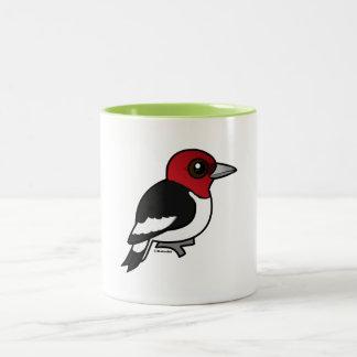 Birdorable Red-headed Woodpecker Two-Tone Coffee Mug
