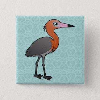 Birdorable Reddish Egret (dark morph) 2 Inch Square Button