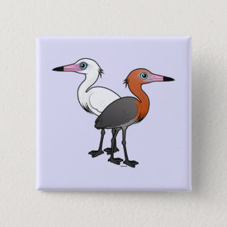 Birdorable Reddish Egrets 2 Inch Square Button