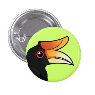 Birdorable Rhinoceros Hornbill 1 Inch Round Button