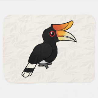 Birdorable Rhinoceros Hornbill Baby Blanket