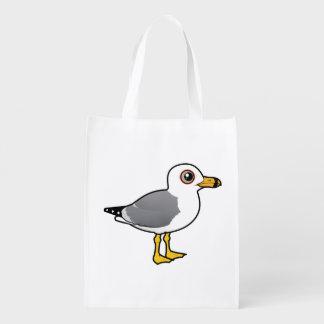 Birdorable Ring-billed Gull Reusable Grocery Bag
