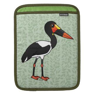 Birdorable Saddle-billed Stork iPad Sleeve