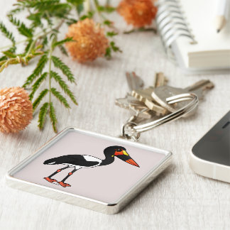 Birdorable Saddle-billed Stork Keychain