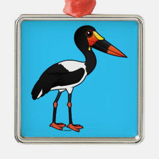 Birdorable Saddle-billed Stork Metal Ornament