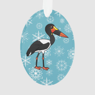 Birdorable Saddle-billed Stork Ornament