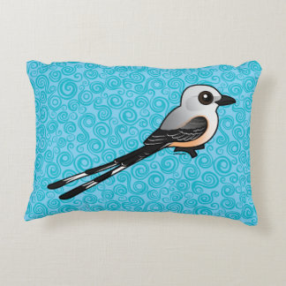Birdorable Scissor-tailed Flychatcher Accent Pillow