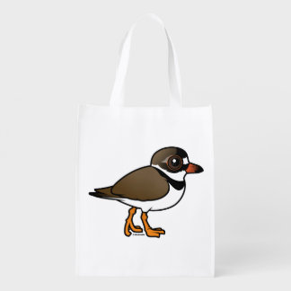 Birdorable Semipalmated Plover Reusable Grocery Bag