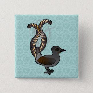 Birdorable Superb Lyrebird 2 Inch Square Button