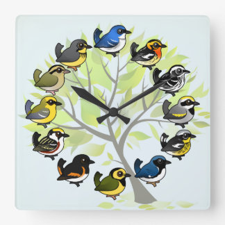 Birdorable Warbler Clock