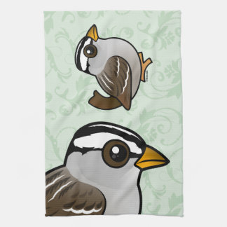 Birdorable White-crowned Sparrow Kitchen Towel