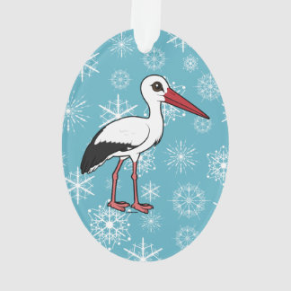Birdorable White Stork Ornament