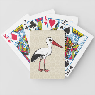 Birdorable White Stork Poker Deck