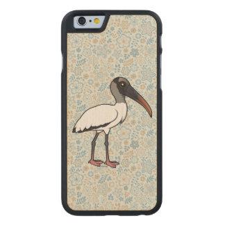 Birdorable Wood stork Carved Maple iPhone 6 Case