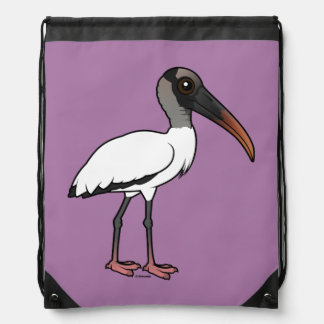 Birdorable Wood stork Drawstring Bag