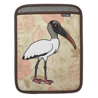 Birdorable Wood stork iPad Sleeve