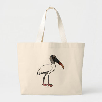 Birdorable Wood stork Large Tote Bag