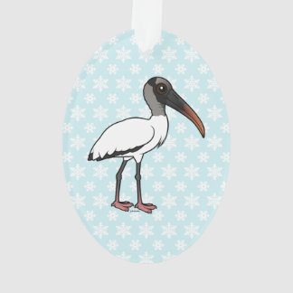 Birdorable Wood stork Ornament