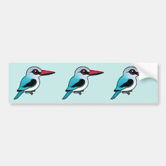 Birdorable Woodland Kingfisher Bumper Sticker