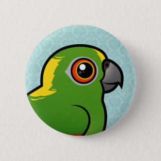 Birdorable Yellow-naped Parrot 2 Inch Round Button