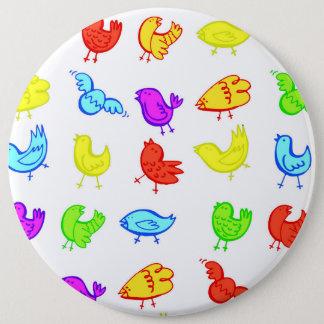 Birds 6 Inch Round Button