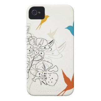 Birds a flower2 iPhone 4 Case-Mate case